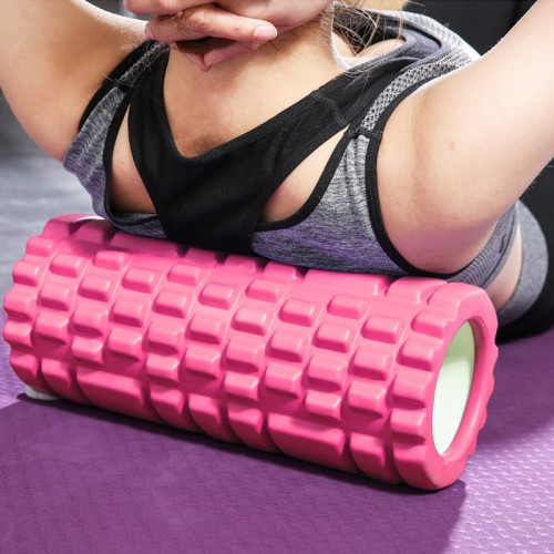 Yoga Foam Roller Hollow Core Column Massage Grid Floating Trigger Point Therapy Pilate Fitness EVA Sports