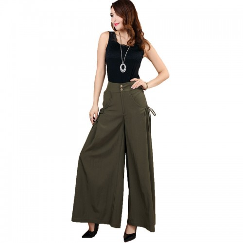 Womens Fashion Leisure Wide Leg Pants