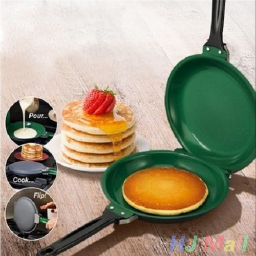 Double Sided Stainless Steel Non-Stick Flip Pan