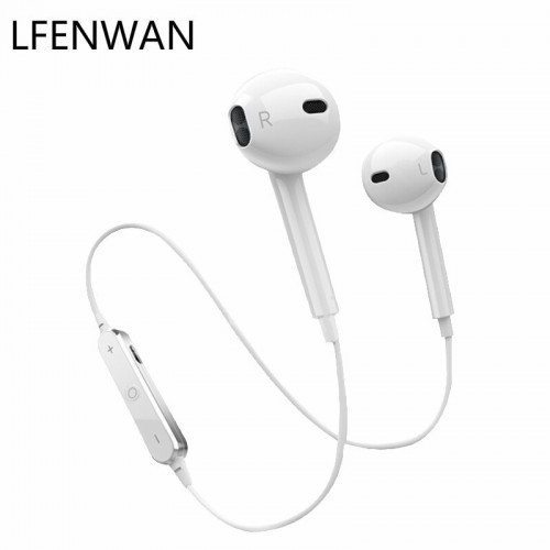 S6 Magnet Wireless Bluetooth Waterproof Earphone Sport Neckband Headset With Mic