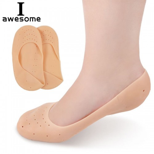 1 Pair Unisex Solid Shoes Pad Shock Absorption Silicone Gel Soft Insole Comfort Pain Relief