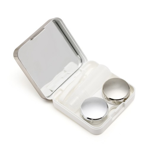 1 Pcs High quality square mirror covor colorful contact lens case Travel Container Holder Storage Soaking Case
