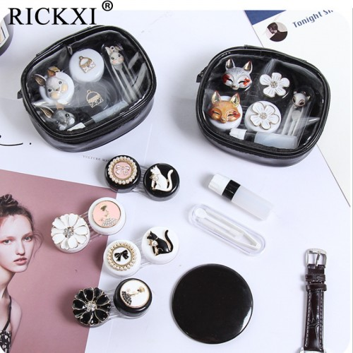 Set Of Cute Fashion Animal Flower Human Contact Lens Case For Women