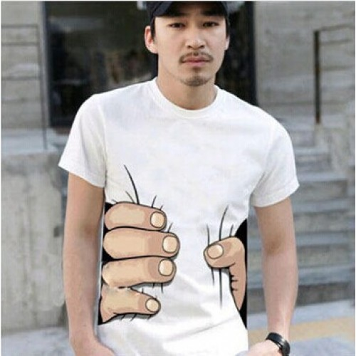 Mens Big Hand 3D Printed Tshirt