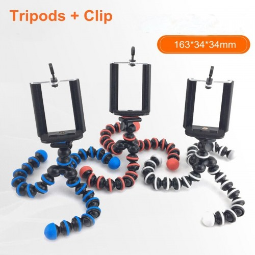 Mini Size Flexible Octopus Tripods With Clip Phone Stand Bracket Holder For Cell Phone Camera