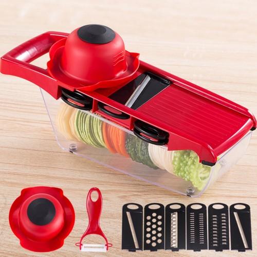 10pcs set Manual Potato Slicer Vegetable Fruit Cutter Stainless Steel Mandoline Onion Peeler Carrot Grater Dicer