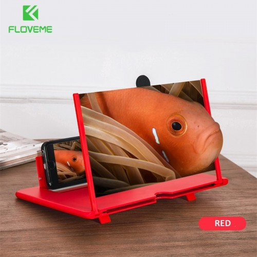 Mobile Phone Screen Magnifier Foldable 3D Screen Amplifier Mobile Phone Holder Stand