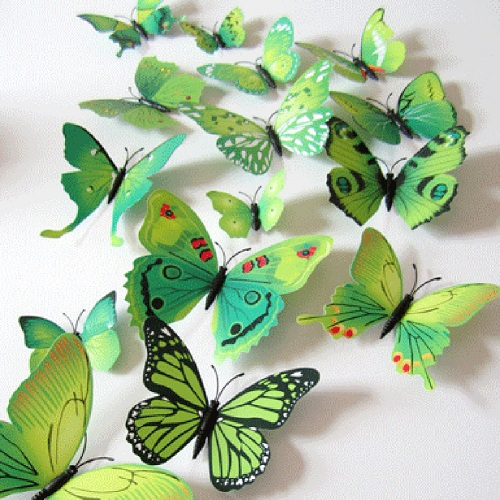 12Pcs 3D PVC Magnet Butterflies Wall Sticker Available in 6 Colors