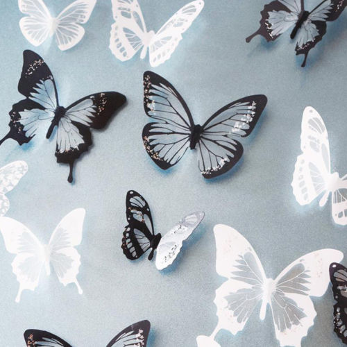 18 Pieces DIY 3D Butterfly Wall Stickers Art Decals Room Decor