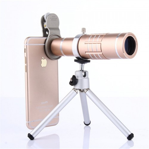 12 Times Zoom All-Metal Mobile Phone Telescopic Lens Universal High-Definition Photo Shoot
