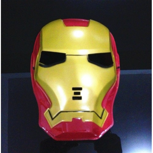 Cool Cosplay Super Hero Glowing Iron Man LED Mask Halloween Make Up Toy