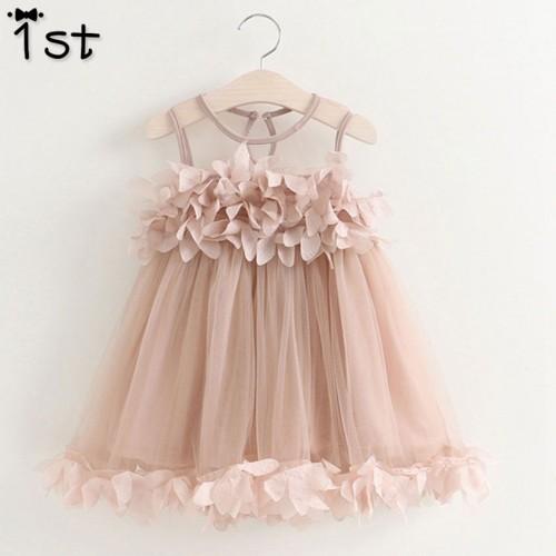 Girls Summer Mesh Clothes Princess Dress Children Summer Clothes Baby Girls Dress