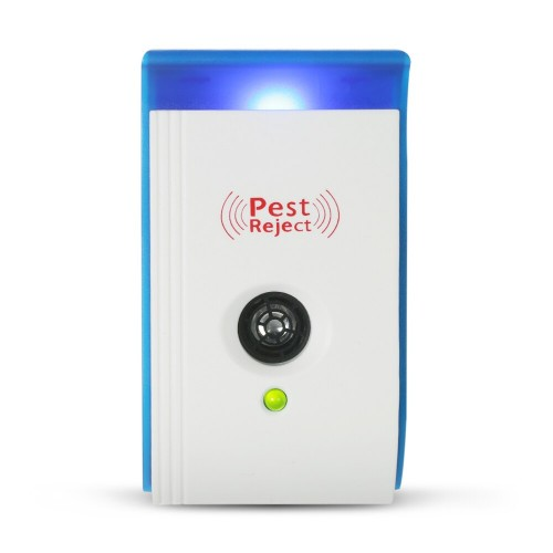 Pack of 2 Pieces Ultrasonic Pest Repeller With Night Light Repellent For Mice Mosquitoes Ants Spiders Roaches