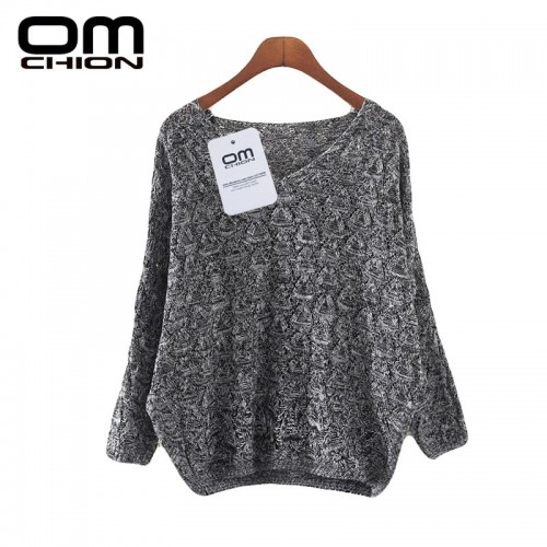 Deep V- Neck Solid Knit Long Sleeve Casual