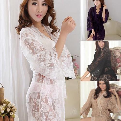 Babydolls See Through Lace Sleepwear Lingerie Nightgown