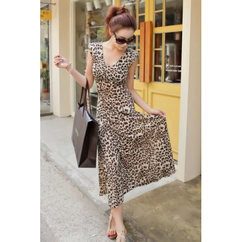 Gorgeous Leopard Casual Long Maxi