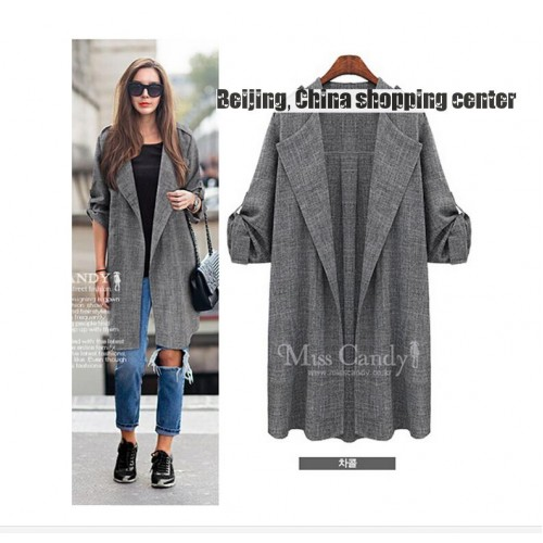 Thin long length and long sleeves Blazer