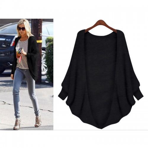 Bat sleeve cardigan sweater jacket