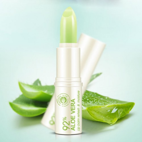Natural Aloe Vera Moisturizing Lip Balm Colorless Refine Repair Lip Wrinkles Winter Lips Care