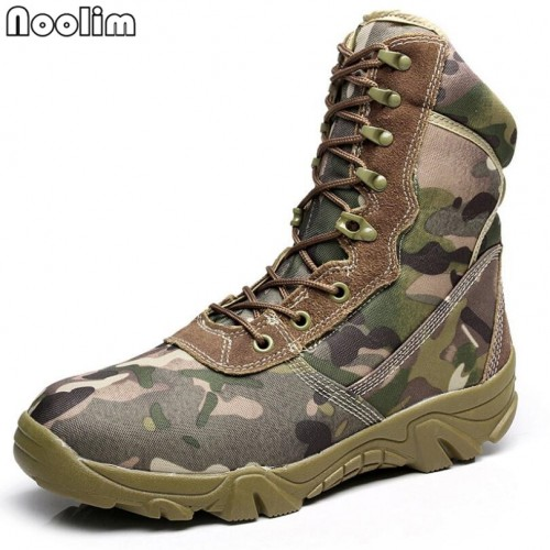 Mens Military Camouflage Tactical Combat Army Climbing Shoes