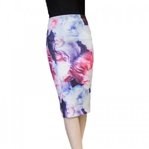 Faldas High Waist Print Pencil Skirt