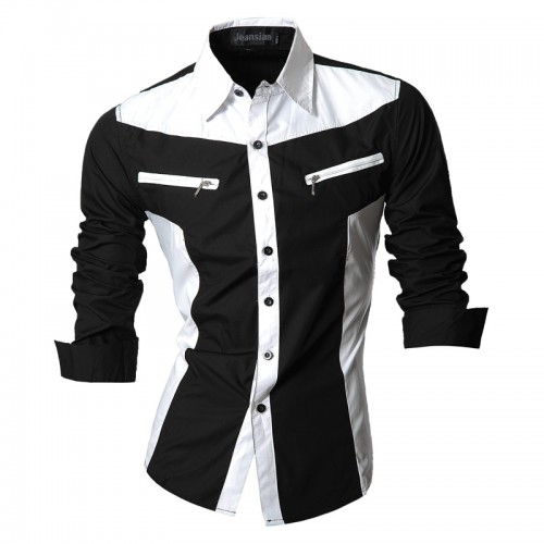 Men Casual Jeans New Arrival Long Sleeve Slim Fit Shirt