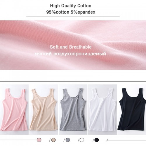Sweet Undershirt Women Top Cotton Camis Vest Tank Top Tees