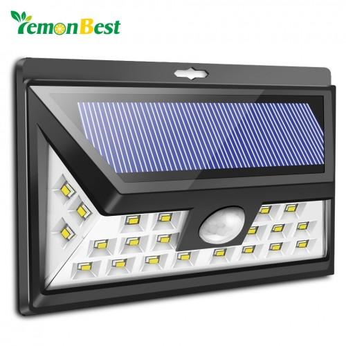 24-LED Solar Power Light Human Infrared PIR Motion Sensor Wall Lamp Outdoor