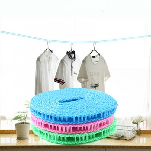 3M Nylon Clothesline Anti-Slip Clothes Hanger Travel Rope Washing Line Drying Rack Outdoor Windproof Fence