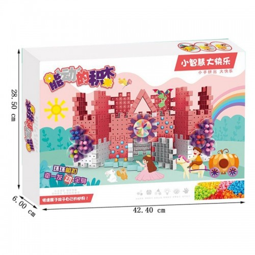 3D Model Building Kits Plastic Brick Blocks With Electric Gears Educational Toys