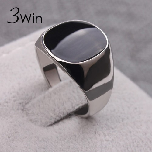 Classical Rings Silver Color Vogue Black Rings For Men