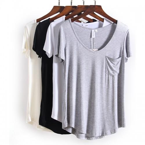 V Neck Short Sleeve T Shirts Summer