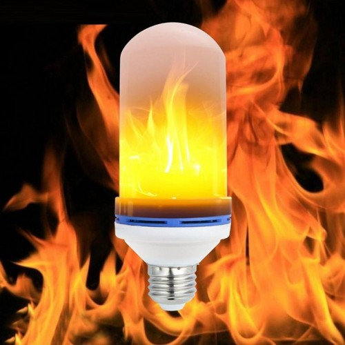 Flame Lamp E27 LED Fire Effect  Bulb Home Decoration Night Light