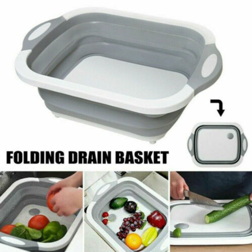 4-in-1 Multiboard Dayvion High Quality  Drain Basket Foldable For Kitchen Fruit