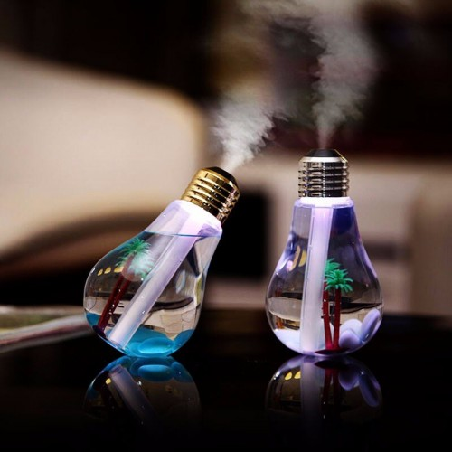 400ML Bulb Essential Oil Humidifier Ultrasonic Diffuser LED Night Light Air Freshener