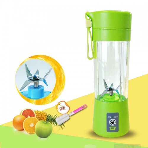 Six Blade 400ml USB Charger Portable Juice Blender Mixer Fruit Electric Smoothie Maker