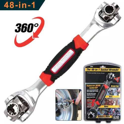 48 In 1 Tiger Wrench Tool Socket Works With Spline Bolts Torx 360 Degree 6-Point Universial Repair Hand Tools