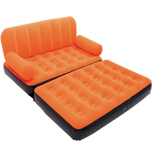 2 in 1 Outdoor Home Garden Inflatable Double Sofa Bed Comfortable Camping Air Sofa Bed With Pump