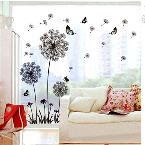 60cm*90cm Tree wall Stickers Dandelion Flower Tree Living Room Bedroom Backdrop Home Decor