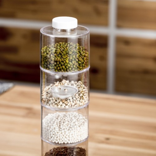 Organizer Storage Boxes Spices Seasoning Jar Transparent Kitchen Spice Tower