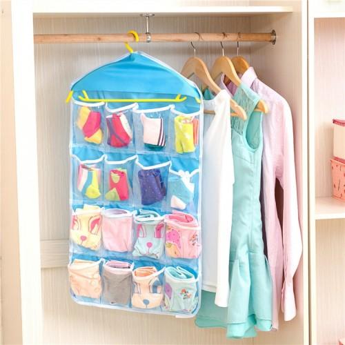 Pockets Clear Hanging Organizer For Underwear Bra Socks Closet Organizer Wardrobe