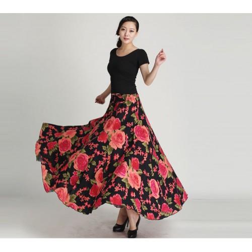 Floral Printed Long Elegant Skirt
