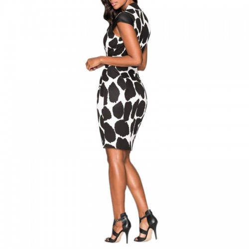 Sleeveless Bodycon Vestido Pencil Polka Dot Dress