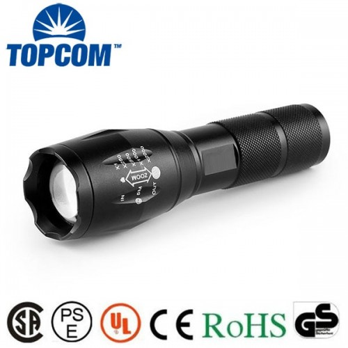 Tactical 50000LM 5Modes T6 LED Flashlight Zoomable 18650 Military Focus Torch