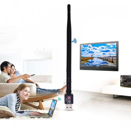 600MBPS USB 2.0 High Speed Wifi Router Wireless 802.11 N Adapter Network LAN Card Antenna For Desktop Computer