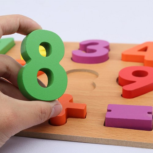 Alphabet ABC Numbers Wooden Puzzles Board Educational Children Toy Learning Kids Educational Toys for Children Gift
