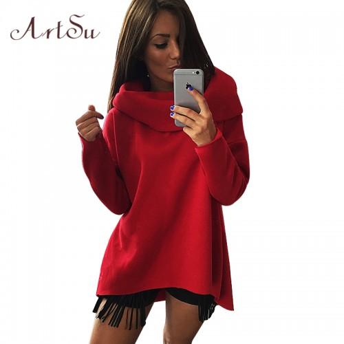 Women Winter Hoodies Scarf Collar Long Sleeve Fashion Casual Style Autumn Sweatshirts