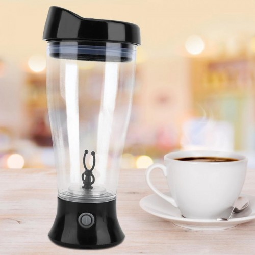 Electric Lazy Automatic Coffee Mixing Tea Mix Cup Travel Mug Double Insulated Thermal Blender