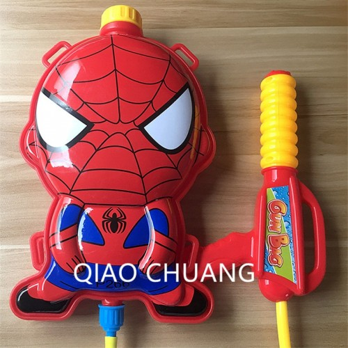 Spider-Man Play Toys Pulling Type Backpack Water Gun Children Water Spray