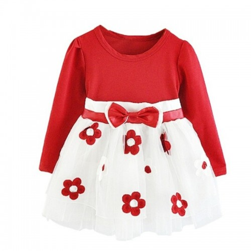 Baby Girl Dress Long Sleeve Autumn Winter Dress 1 Year Birthday Party Toddler Girls Kids Casual Clothes